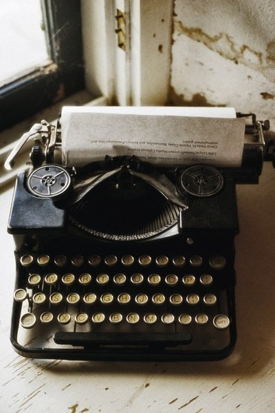 typing-i used to have an old electric type-writer (not sure where it is now!) that I would write our family newspaper on.