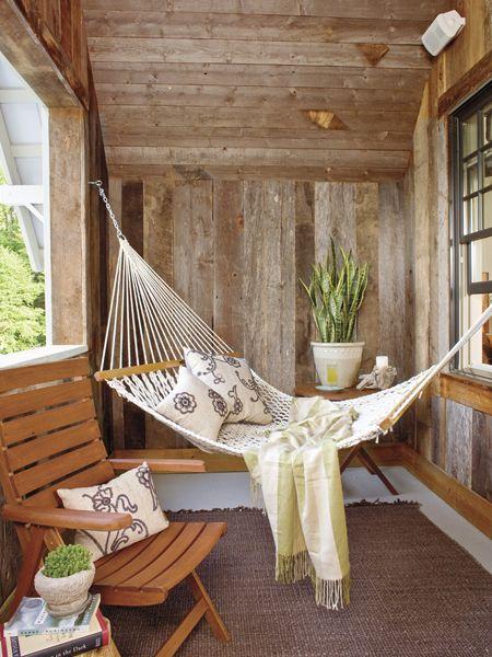 hammock on the porch
