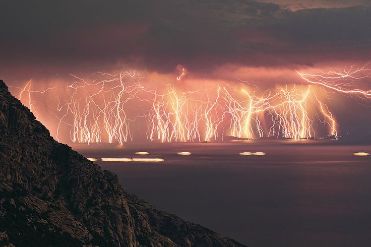 Eternal Lightning Fields, Venezuela. For ten hours each night for up to 160 nights per year.