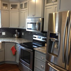 Shaker Kitchen Cabinets Cabinet With Drawers Grey And Knobs