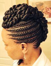 pineapple cornrow braids hair