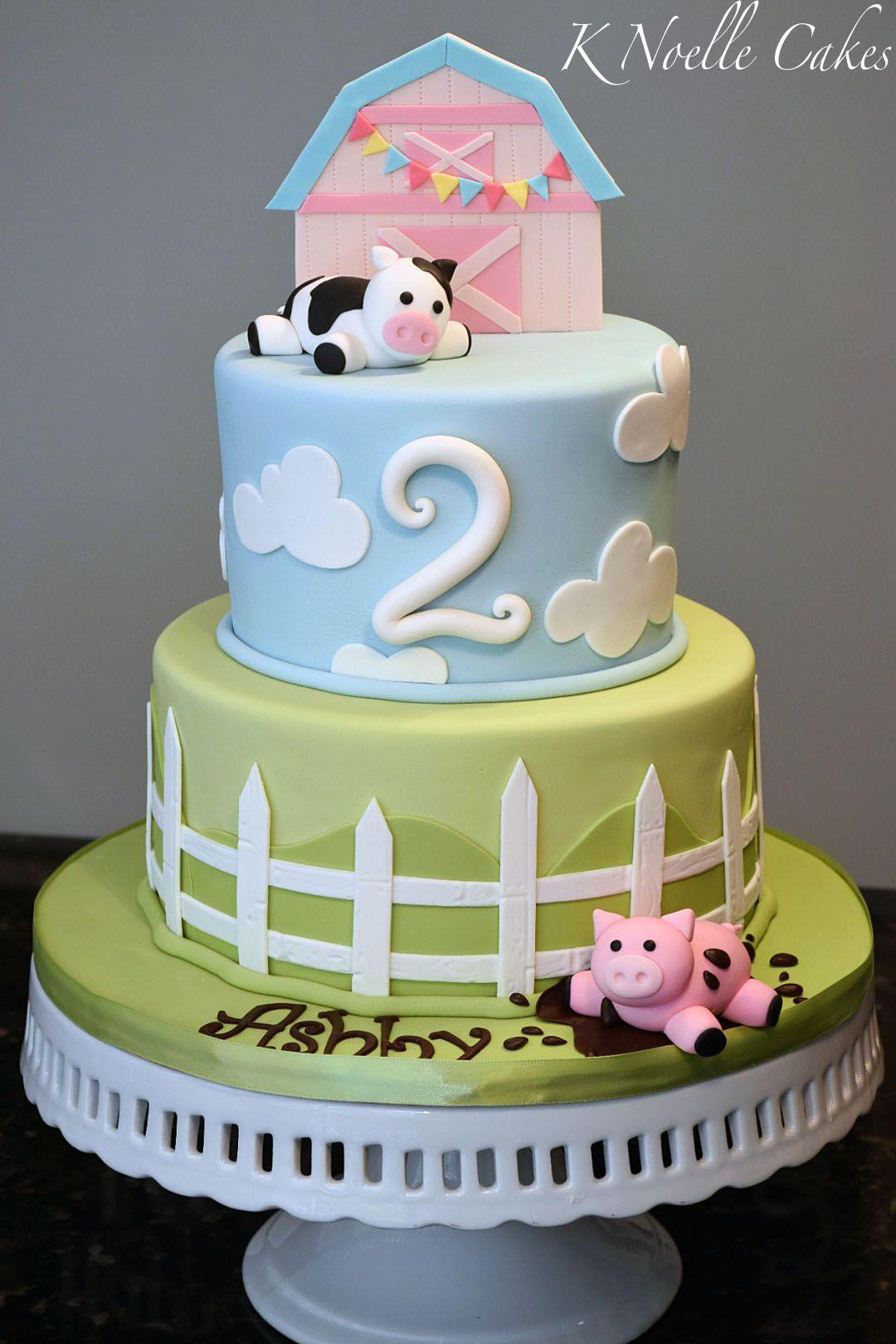First Birthday Farm Theme Cake