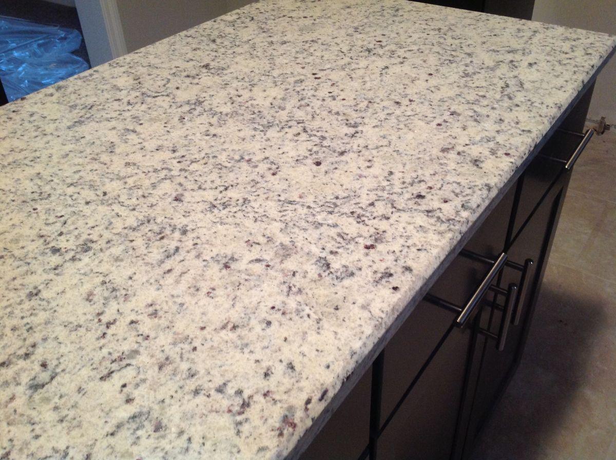 Attractive Dallas White Granite Countertops With Dark Cabinets Love