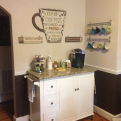 Coffee Bar In Kitchen Drain Is My Life On Pinterest Stations