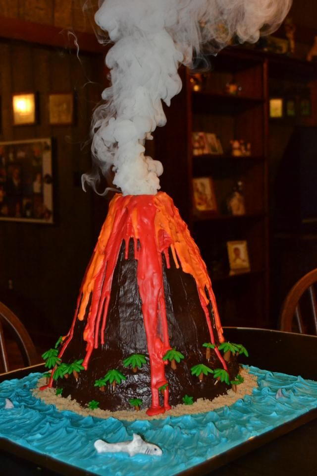 Volcanoes Erupting Volcano And Volcano Cake On Pinterest