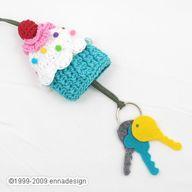 Cupcake key holder