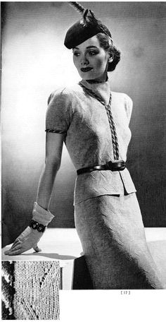 Free Vintage 1930s 2-Piece Suit Knitting Pattern and Tutorial