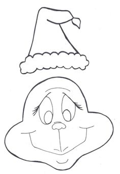 Grinch Santa Hat Template