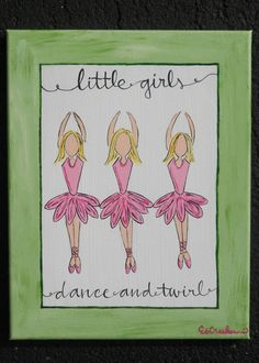 Little Girls Dance And Twirl - $45.00