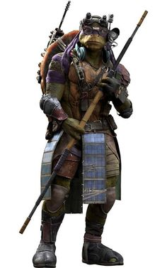 Donatello's new look from the new 2014 Teenage Mutant Ninja Turtles movie.