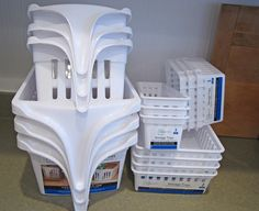 I want these handled baskets from Walmart, but they are out of stock.  I will keep looking!