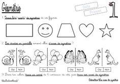 La symétrie axiale (CM/Géométrie/Les fiches d'exercices)