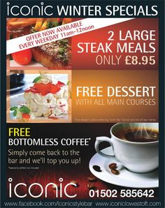 Iconic Bar & Grill Lowestoft winter specials   - made with simplebooklet.com
