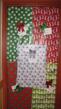 A girls dorm room of 5... We decorate our door for every ...