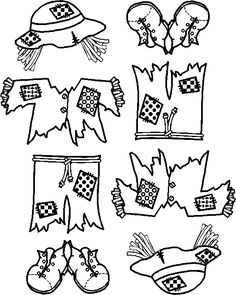 Scarecrow Coloring Project Put Together Coloring Pages
