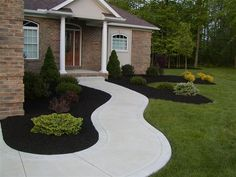 landscaping ideas with black mulch