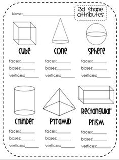 K.G.B.4 Common Core (# of sides, vertices, etc) on Pinterest