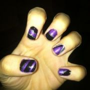colorado rockies nail design
