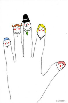 Handen omhoog! tekenen en schilderen met je handen on