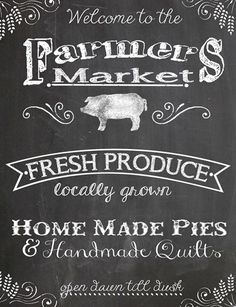 Farmers Market - a sneak peak at our fall Chalkboard Plaque