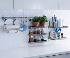 Wall Rail Organization Systems on Pinterest  Ikea Kitchen