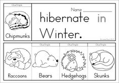 7 Winter Sight Word Flip Books (color and black and white