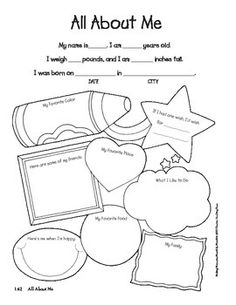 All About Me, My Body & Family for Preschool on Pinterest