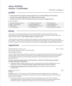 New Media Resume Samples On Pinterest Resume Video