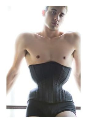 bfa99a6d69a Here designer and corsetier Gabriel Moginot models a high-reduction corset  with an abrupt hip spring