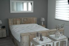 slaapkamers on Pinterest  Headboards Cottage Bedrooms