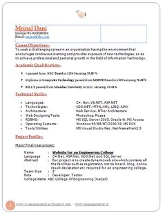 Resumes On Pinterest Resume Templates Resume And Resume
