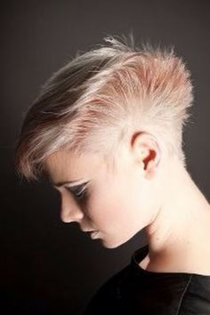 HalfShaved Hairstyle on Pinterest  Half Shaved Half