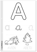 Review the Spanish alphabet and practice handwriting with