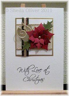 Card Ideas Christmas Poinsettia Spellbinder Dies On
