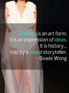 #Quote #Fashion  Image: BOWIE Spring 2013 Collection at #MBFWA
