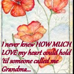 I have two special grandchildren to thank for that!