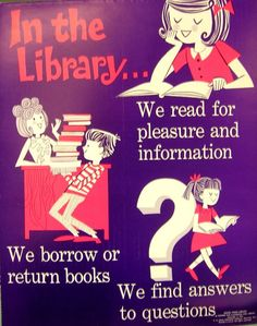 RETRO POSTER - In the Library by Enokson, via Flickr www.bibliotheeklangedijk.nl