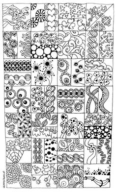 Doodle sampler.  What a great idea!!  I might have to put this with some brand new thin-line sharpies at my desk!!