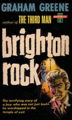 1961 Australian pulp cover of Brighton Rock
