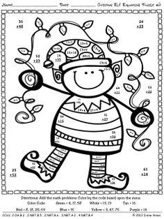 Christmas Elf Equations : Christmas Math Printables ~ Math