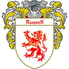 russell family crest Google Search Genealogy hints