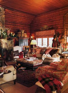 cabin living room decorating ideas blue sofa ralph lauren decor on pinterest   lauren, airstream ...