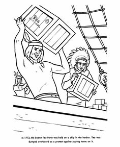 America Revolutionary War coloring pages