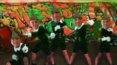 Dancing Elves Merry Christmas