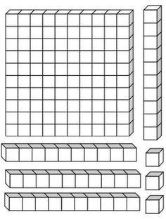 Base Ten Blocks Template 8b6bbbd63b2b1834889e3de856e