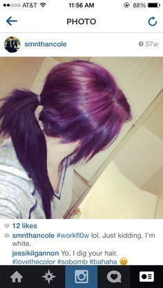 Purple Splat Hair Dye No Bleach