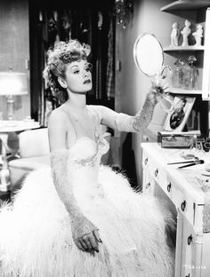 Lucille Ball 1942,  check out that gown! Beautiful! :: Old Hollywood