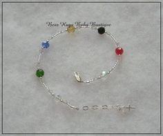 Sterling Silver Crystal Salvation Bracelet. #jewelry #