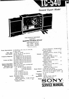 Reel to Reel Tape Recorders Service Manuals on Pinterest