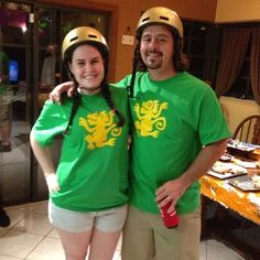 These Legends of the Hidden Temple contestants. | 50 Couple Costume Ideas To Steal This Halloween